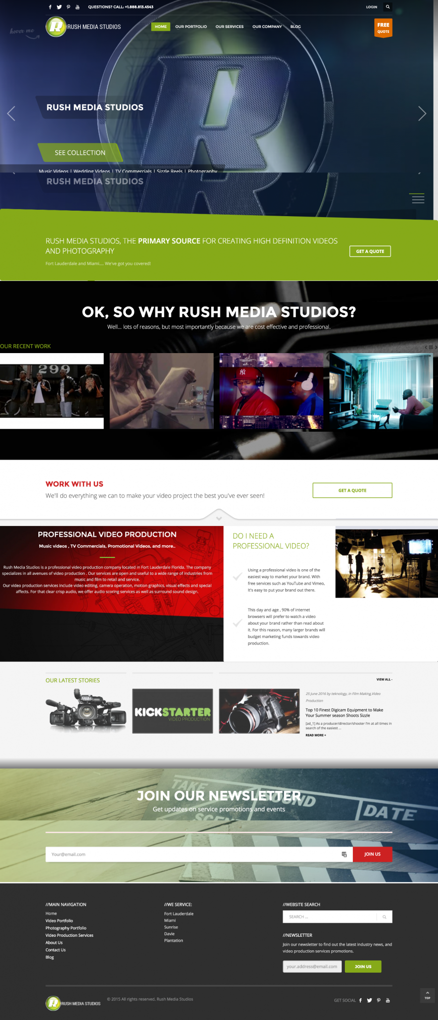 Rush Media Studios Wordpress Design | MageHD
