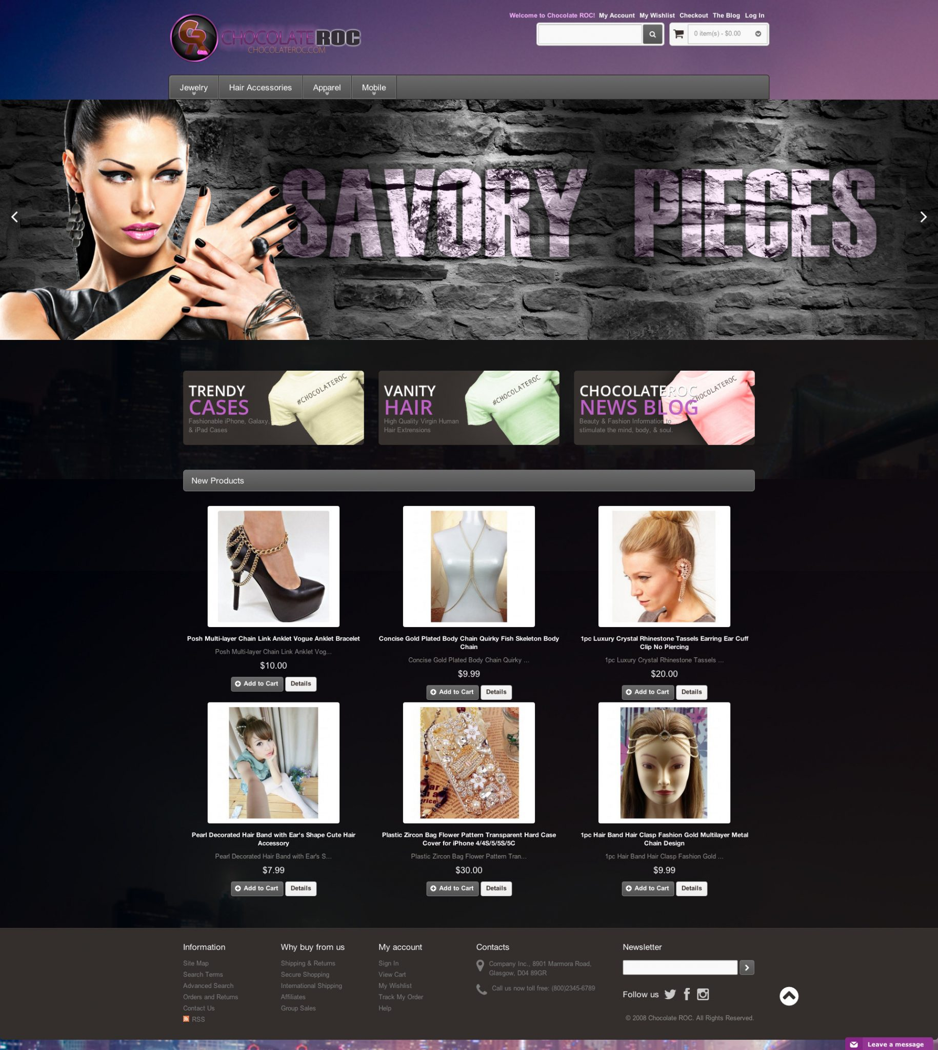 Chocolate ROC Magento website design | MageHD