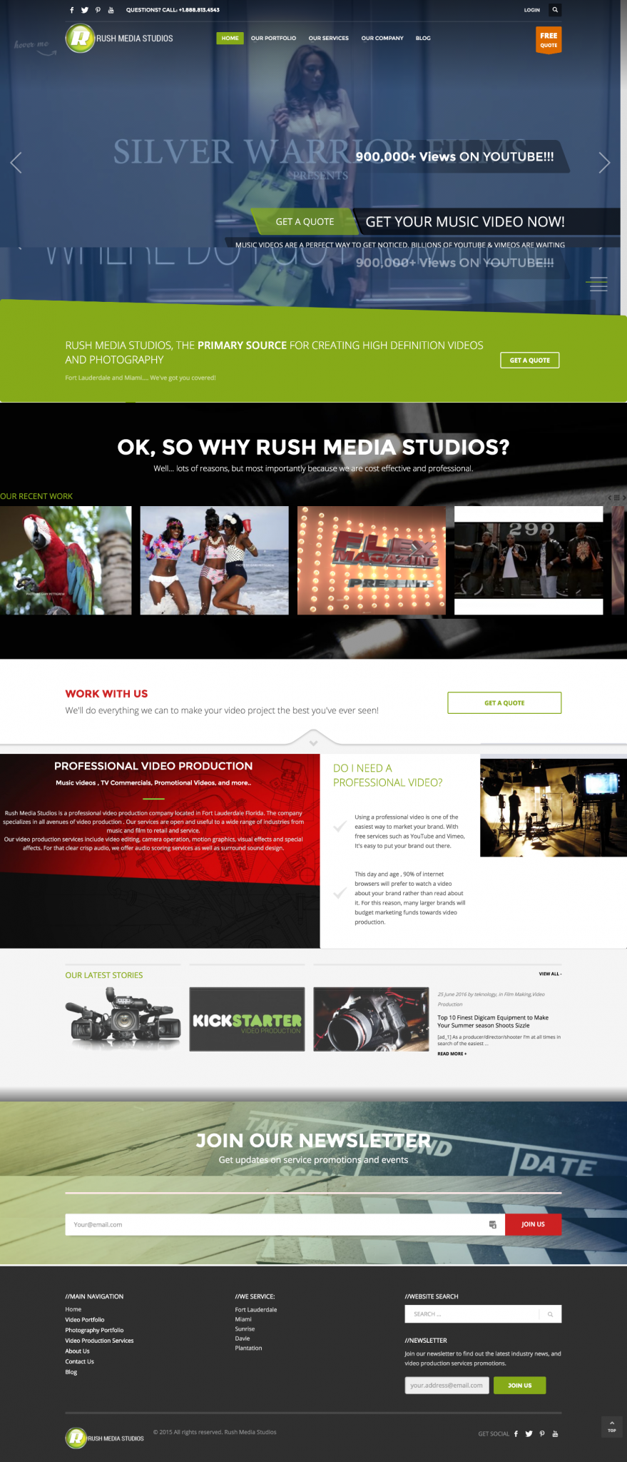Rush Media Studios Wordpress Design