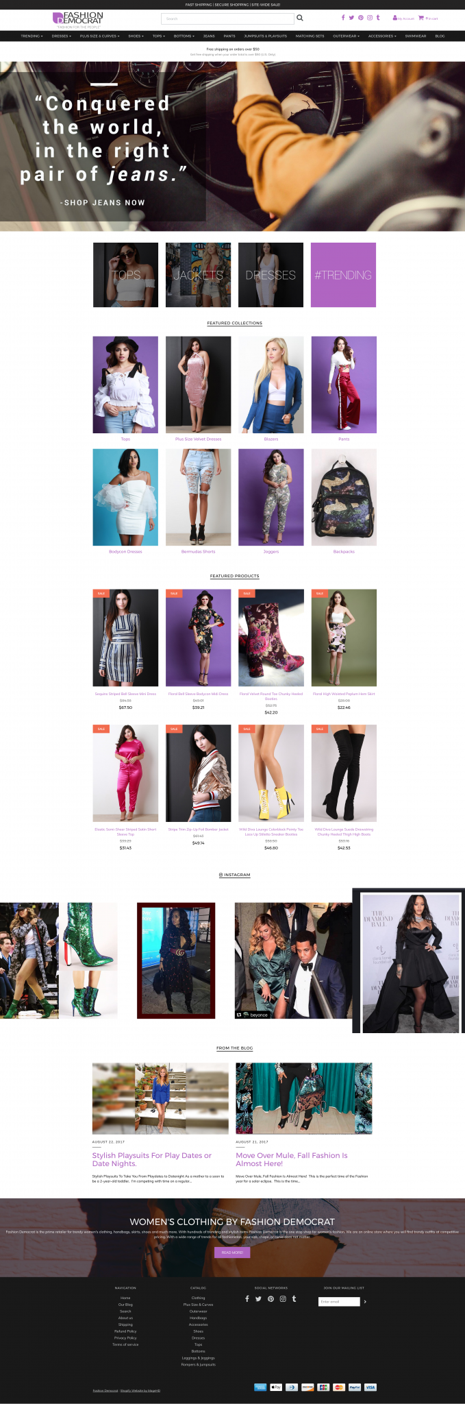 Fashion Democrat Shopify Website Design