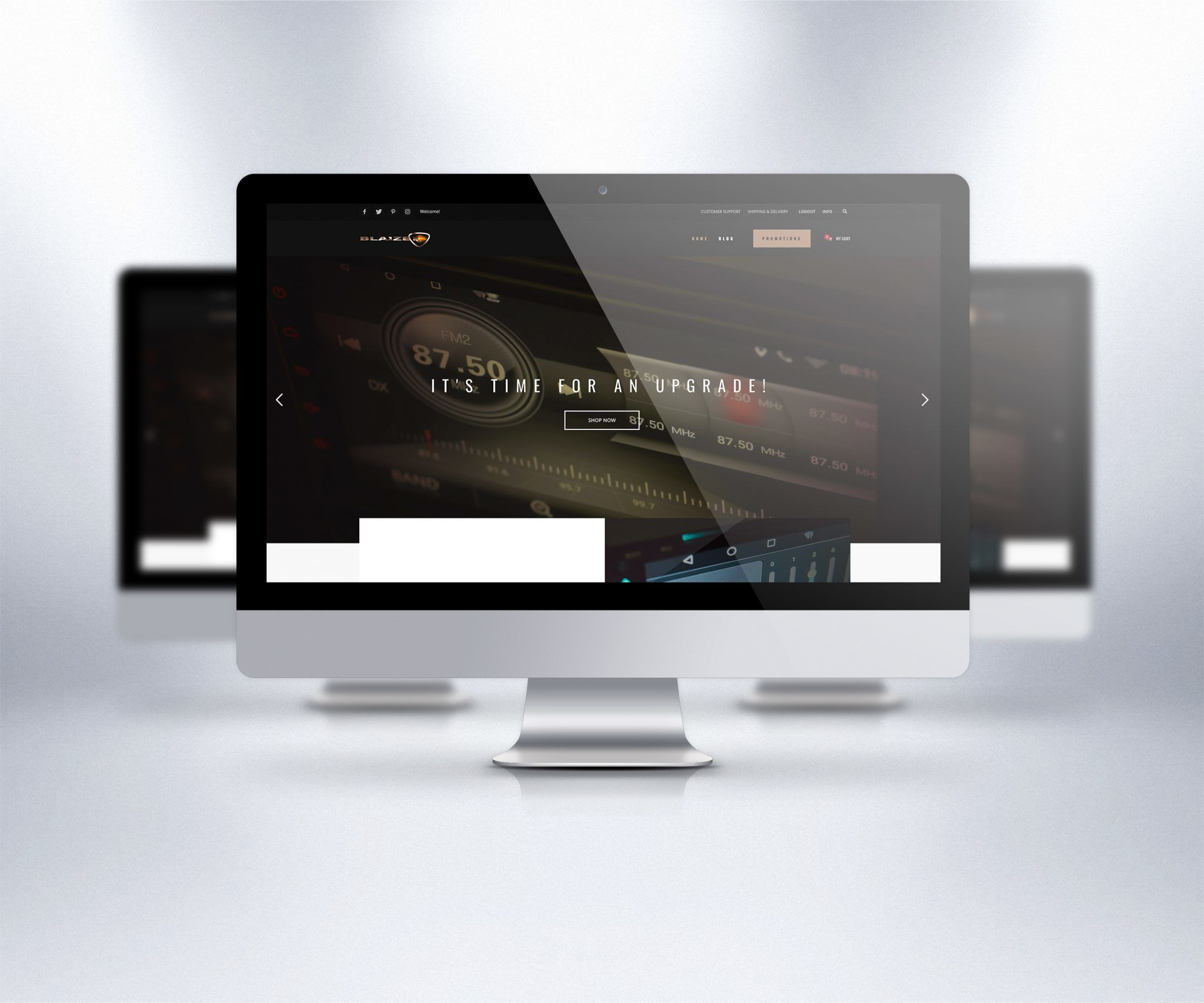 Blaize Audio Wordpress Website Design
